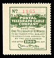 Postal Telegraph Cable Company stamp 1909.jpg