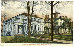 PostcardWallingfordCTLibryAndMarlboroughHouse1909