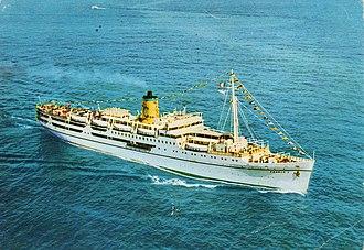 MV Doulos Phos - Franca C at sea.