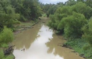 Poteau River - The Poteau River near Panama, Oklahoma