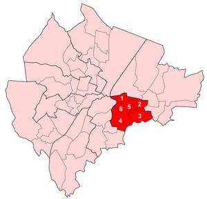 Pottinger (District Electoral Area) - Image: Pottinger Wards