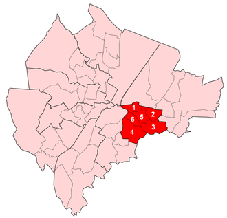 Pottinger (District Electoral Area) - Image: Pottinger Wards
