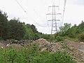 Power lines running west through Cloven Hill Plantation - geograph.org.uk - 176044.jpg