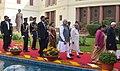 Pranab Mukherjee, the Vice President, Shri M. Hamid Ansari, the Prime Minister, Shri Narendra Modi, the Speaker, Lok Sabha, Smt. Sumitra Mahajan, the Union Minister for Chemicals & Fertilizers and Parliamentary Affairs.jpg
