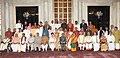 Pranab Mukherjee with awardees of the Sangeet Natak Akademi Fellowships and Sangeet Natak Akademi Awards-2011, at the investiture ceremony, at Rashtrapati Bhavan.jpg