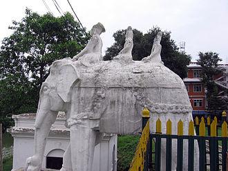 Ranipokhari - Elephant statue on the southern side of Rani Pokhari