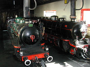 Prater Liliputbahn - Locomotives 1 and 2 in the Steam Shed.