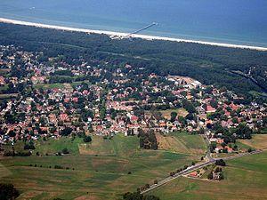 Prerow - Aerial view of Prerow, peninsula of Darss.