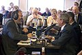 President George W. Bush Discusses Social Security with Jan Mickelson, WHO Radio.jpg
