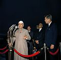 President John F. Kennedy Attends Arrival Ceremonies for Jawaharlal Nehru, Prime Minister of India (color).jpg