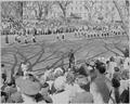 President Truman attends the Army Day parade in Washington, D. C. This view shows a women's unit marching in the parade. - NARA - 199603.tif