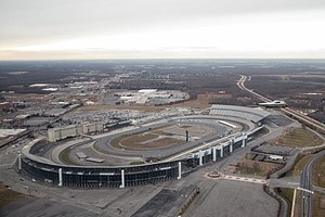 Dover International Speedway - Aerial view of Dover International Speedway in 2017