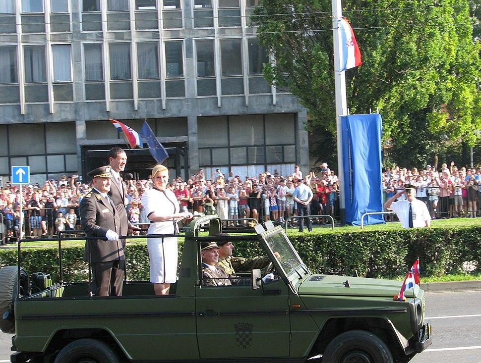 President of Croatia at Military Parade 2015