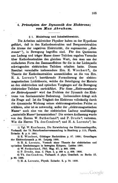 File:Prinzipien der Dynamik des Elektrons (1903).djvu