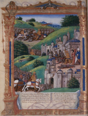 Siege of Vannes (1342) - Siege of Vannes in 1342 by Guillaume Fillastre