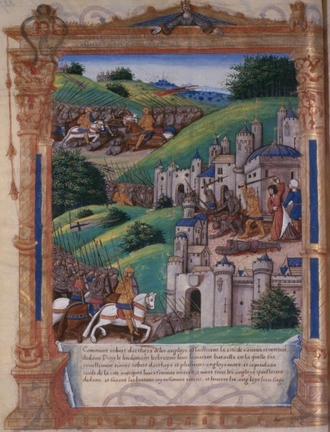 Sieges of Vannes (1342) - Siege of Vannes in 1342 by Guillaume Fillastre