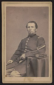 Private Eli F. Bruce of Co. E, 71st New York Infantry Regiment in uniform with sword) - Bogardus, photographer, 363 Broadway, cor. Franklin St., New York LCCN2017659610