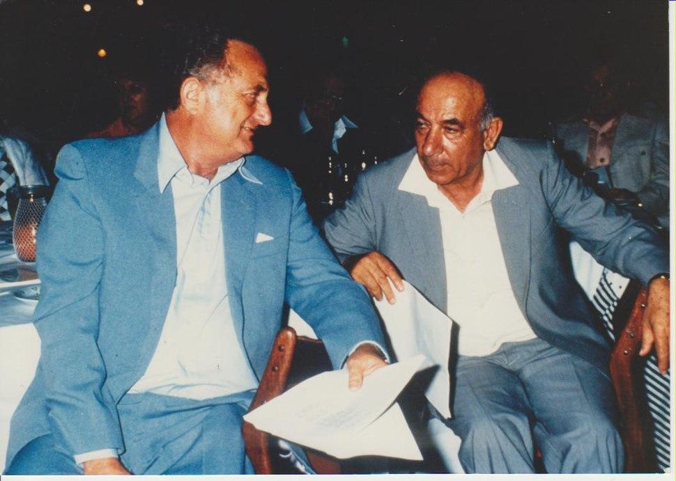 Prof. Joseph Brandes with Yigal Horowitz