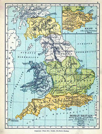 Scotia - A mapping of the Roman divisions of Ireland and Scotland with the Scoti shown as a tribal grouping in the north of Ireland