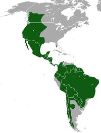 Mapa de distribuição da suçuarana.