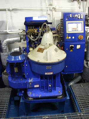 An Alfa Laval fuel oil purifier