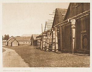 Cowichan Tribes - Qumutsun Village, 1912 (Edward Curtis).