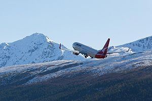 Required navigation performance - Qantas Boeing 737–800 flying RNP departure from Queenstown, New Zealand