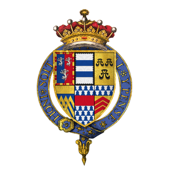 Henry Herbert, 2nd Earl of Pembroke - Quartered arms of Sir Henry Herbert, 2nd Earl of Pembroke, KG