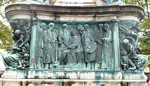 Queen Victoria Memorial, Lancaster - Image: Queen Victoria Memorial Lancaster East Frieze