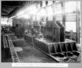 Queensland State Archives 3736 Rocklea workshops assembly of northern main shoe webs on base castings Brisbane 8 January 1937.png