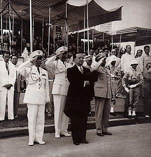 Rizal Day - President Elpidio Quirino leads the 1949 Rizal Day ceremony.