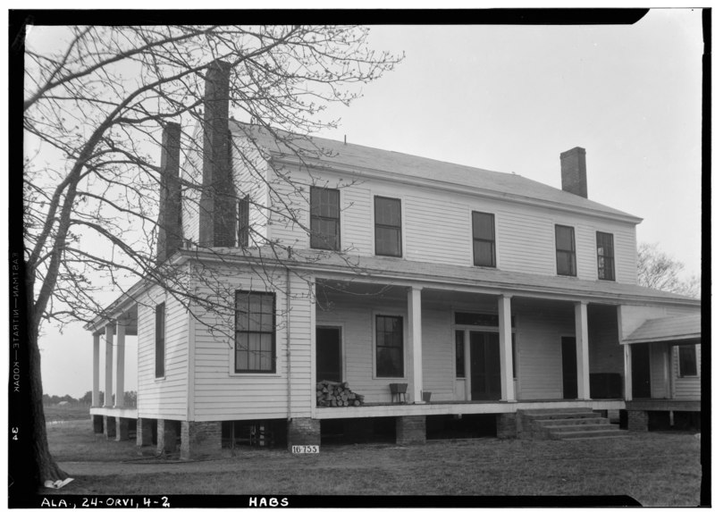 File:REAR VIEW. - Kelley-Bland-Ward House, County Road 2 vicinity, Orrville, Dallas County, AL HABS ALA,24-ORVI,4-2.tif