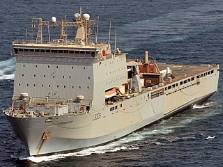 RFA <i>Cardigan Bay</i> (L3009) Bay-class landing ship dock