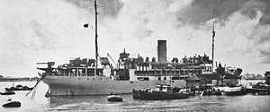 Scotts Shipbuilding and Engineering Company - HMS Shengkiang, built by Scotts in 1931 as the coastal steamship SS Shenking for the China Navigation Company