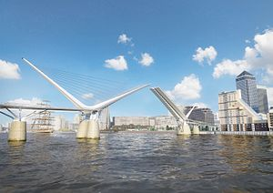 Rotherhithe crossing - Proposed crossing by reForm Architects and Elliott Wood Consultant Engineers