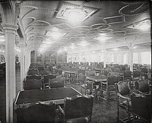 Beautiful RMS Olympicu0027s First Class Dining Saloon Part 5