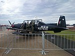RNZAF (N2763B) Beechcraft T-6C Texans II on display at the 2015 Australian International Airshow.jpg