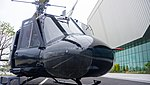 ROKAF UH-1B(38-560) nose section right front view at Jeju Aerospace Museum June 6, 2014.jpg