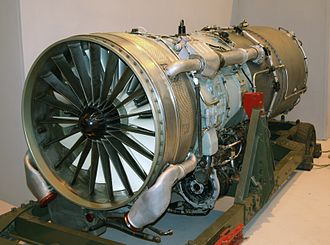 Royal Air Force Museum Cosford - The Rolls-Royce Conway on display in Hangar 1