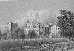 Baron Barnard - Raby Castle, the seat of the Vane family. From Jones' Views of the Seats of Noblemen and Gentlemen (1819).