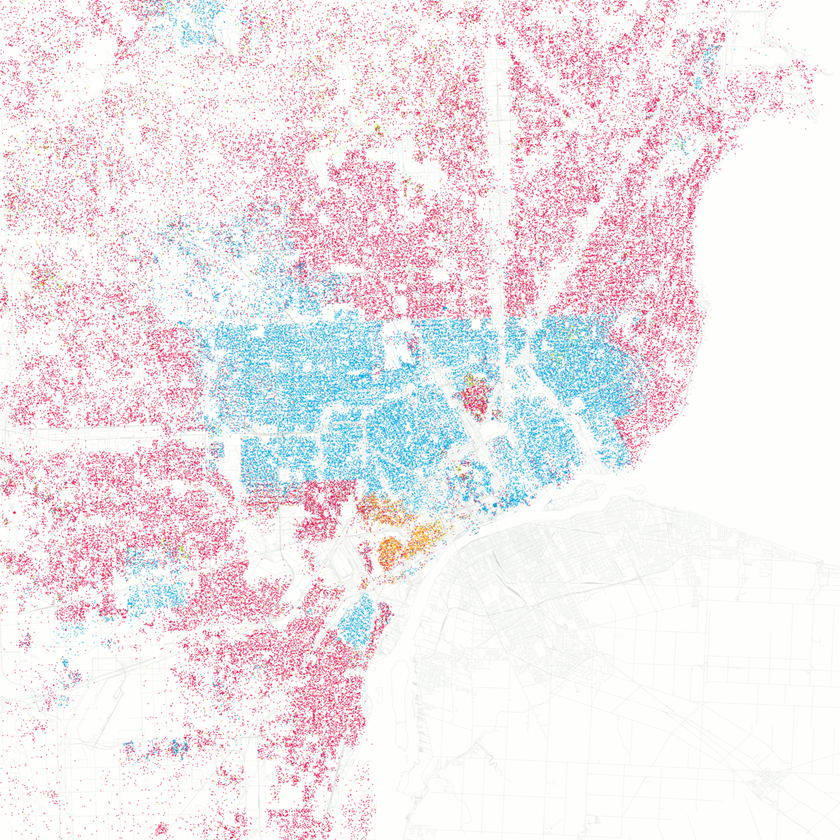 Demographic History Of Detroit Wikipedia - Us demographics map by race