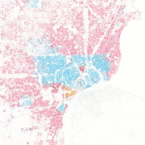 Post-racial America - Image: Racial Divide Detroit MI