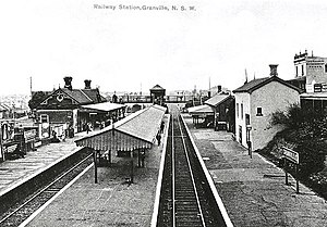 Granville railway station - The station in 1890.