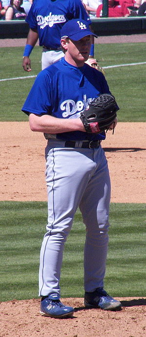Randy Wolf - Wolf pitching for the Dodgers in Spring 2007.