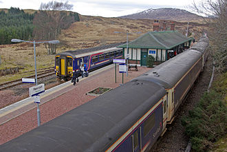 Rannoch railway station - Right-hand running was instigated in 1987 to simplify shunting moves.
