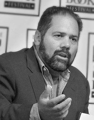 Ray Suarez at a book festival in Baltimore, Ma...