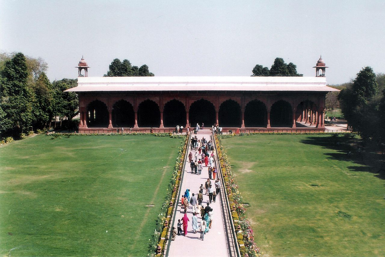 File red fort diwan i aam jpg wikimedia commons for Diwan i aam images