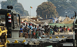 Central African Republic - Refugees of the fighting in the Central African Republic, January 2014