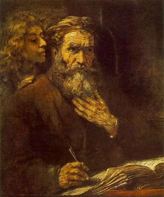 Matthew the Apostle - Saint Matthew and the Angel (1661) by Rembrandt.