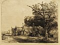 Rembrandt Three farmhouses along a road07.jpg